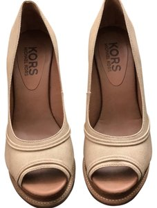Michael Kors brown, beige Wedges