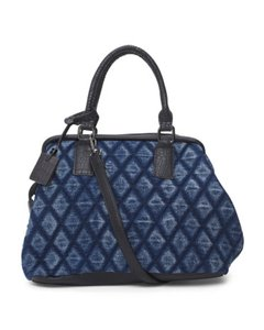 Larita Satchel in Blue/Denim