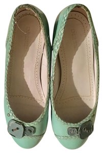 Diesel Leather Mint Flats