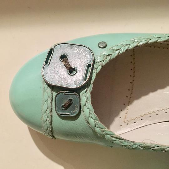 Diesel Leather Mint Flats Image 1