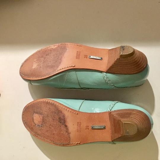 Diesel Leather Mint Flats Image 3
