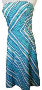 Ann Taylor short dress Strapless Cotton on Tradesy