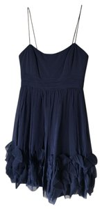 Marchesa Notte Silk Ruffle Accents Dress