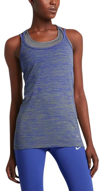 Item - Paramount Blue/Palm Green/Reflect Silver Dry Knit-women's Running Activewear Top Size 10 (M, 31)