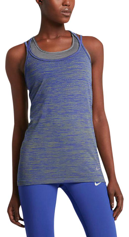 176846f4 Nike Paramount Blue/Palm Green/Reflect Silver Dry Knit-women's Running  Activewear Top