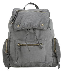Urban Outfitters Boho Canvas Faux Leather Backpack