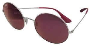 Ray-Ban New Ray-Ban Sunglasses RB 3592 003/D0 Silver Round Frame w/Red Classic