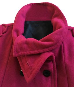 Roxy Pink Raspberry Peacoat Nautical Raspberry Pink Jacket