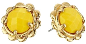 Kate Spade KATE SPADE 12K Gold Plated Round Scalloped Edge Stud Earrings Yellow