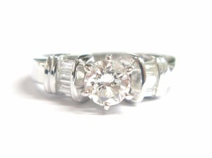 Other Fine Round & Baguette Diamond Engagement Ring F - SI1 EGL .70CT