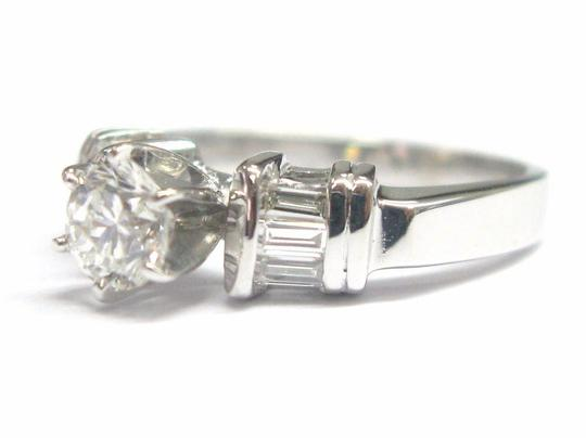 Other Fine Round & Baguette Diamond Engagement Ring F - SI1 EGL .70CT Image 1
