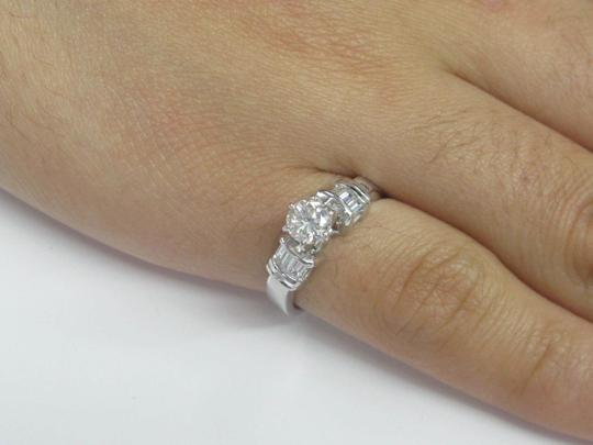 Other Fine Round & Baguette Diamond Engagement Ring F - SI1 EGL .70CT Image 4