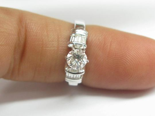 Other Fine Round & Baguette Diamond Engagement Ring F - SI1 EGL .70CT Image 5