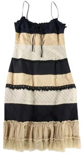 Moschino short dress Black / Nude / Cream Patchwrk Lace on Tradesy