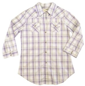 Elizabeth and James Button Down Shirt Purple / Lavender / Tan / White / Cream / Gray
