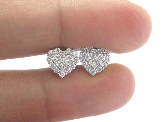 Other 18Kt Heart Shape Diamond Invisible Setting White Gold Stud Earrings 1. Image 1