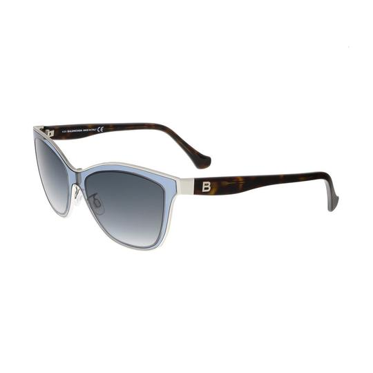 Balenciaga Balenciaga Clear Light Blue and Tortoise Wayfarer Sunglasses Image 0