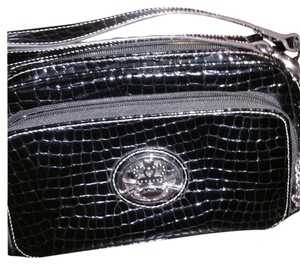 Kathy Van Zeeland Satchel in Black with silver