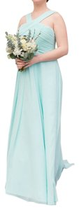 Mori Lee Mint Luxe Chiffon 20434 Formal Bridesmaid/Mob Dress Size 2 (XS)