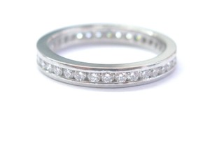 Other Platinum Round Cut Diamond Channel Set Eternity Band Ring 36-Stones .7