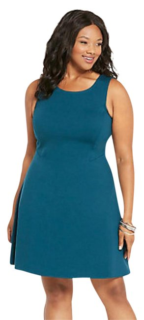 Item - Teal 10700461 Mid-length Work/Office Dress Size 26 (Plus 3x)