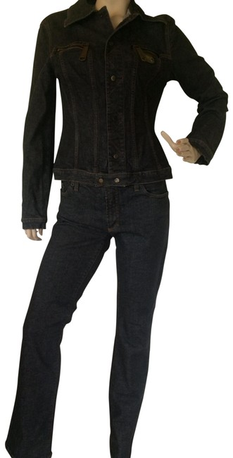 Item - Blue Full and Dark Jacket Pant Suit Size 8 (M)