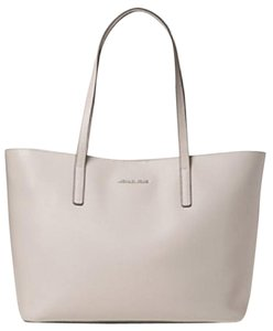 Michael Kors Leather Imported Tote in Cement