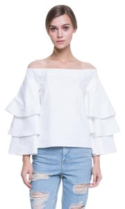Endless Rose Three Layers Sleeve Top OFF WHITE