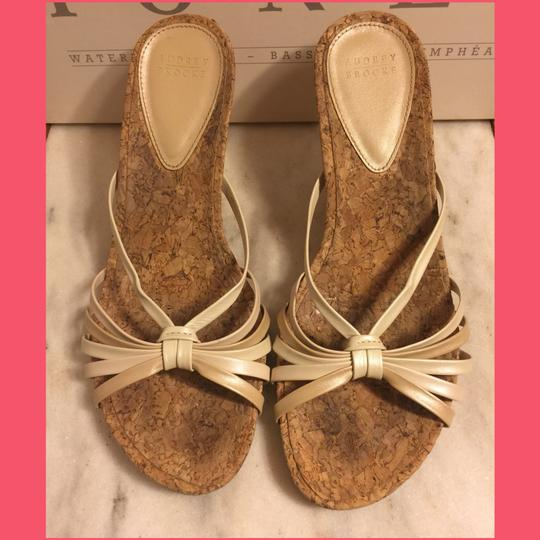 Audrey Brooke Gold/Cream/Tan/Cork Sandals Image 1