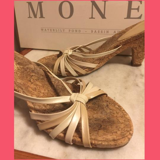 Audrey Brooke Gold/Cream/Tan/Cork Sandals Image 2