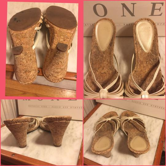 Audrey Brooke Gold/Cream/Tan/Cork Sandals Image 4