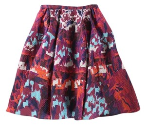 Peter Pilotto Emma Rh Printed Cloque A-line Skirt Multicolor