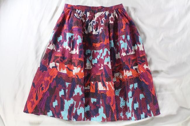 Peter Pilotto Emma Rh Printed Cloque A-line Skirt Multicolor Image 9