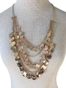 Free People Gold Coin Multi Strand Necklace