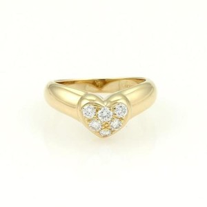 Tiffany & Co. Pave Diamonds Heart Ring in 18k Yellow Gold