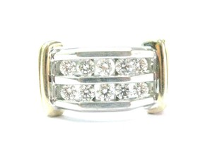 Other Fine Two-Tone Round Cut Diamond Mens Jewelry Ring 1.00Ct 10KT