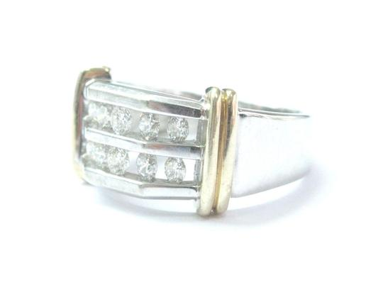 Other Fine Two-Tone Round Cut Diamond Mens Jewelry Ring 1.00Ct 10KT Image 1