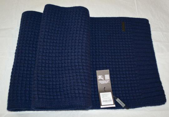 Burberry BURBERRY CASHMERE WAFFLE KNITTED SCARF WRAP Image 4