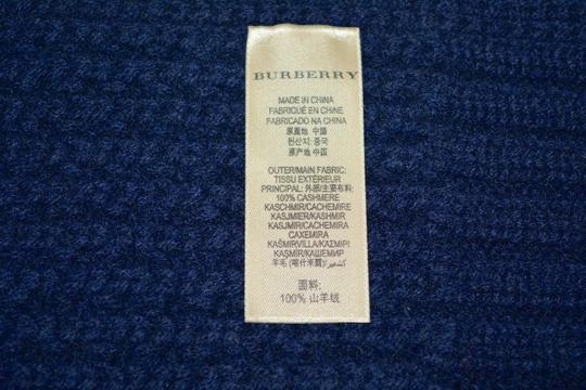Burberry BURBERRY CASHMERE WAFFLE KNITTED SCARF WRAP Image 5