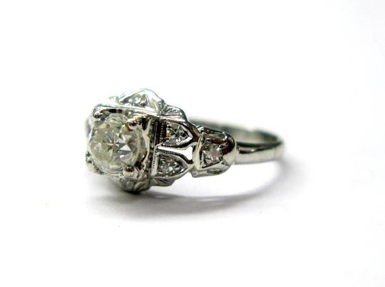 Other Platinum Old European Cut Diamond Solitaire Ring .58CT Image 1