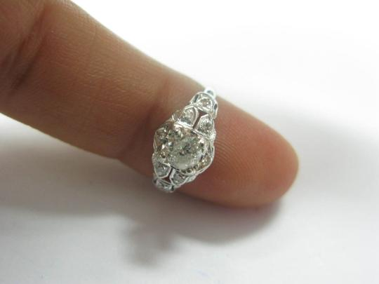 Other Platinum Old European Cut Diamond Solitaire Ring .58CT Image 3