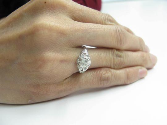 Other Platinum Old European Cut Diamond Solitaire Ring .58CT Image 4