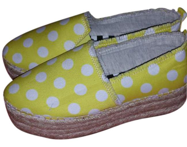 Item - Yellow White Espadrilles Lemonade Flats Size US 5 Regular (M, B)