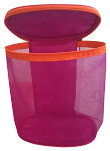 Clinique Oval Tote Pink with Orange Travel Bag