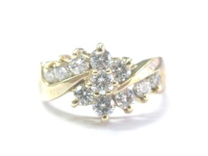 Other Fine Round Cut Diamond Circular Bypass Yellow Gold Jewelry Ring 1.00Ct