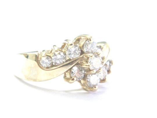 Other Fine Round Cut Diamond Circular Bypass Yellow Gold Jewelry Ring 1.00Ct Image 1