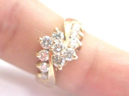 Other Fine Round Cut Diamond Circular Bypass Yellow Gold Jewelry Ring 1.00Ct Image 4