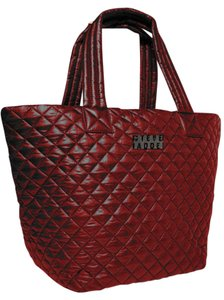 Steve Madden Nylon Quilted Tote in Dark Burgundy