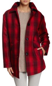 Pendleton Wool Plaid Shirting Blend Quilted Red Jacket