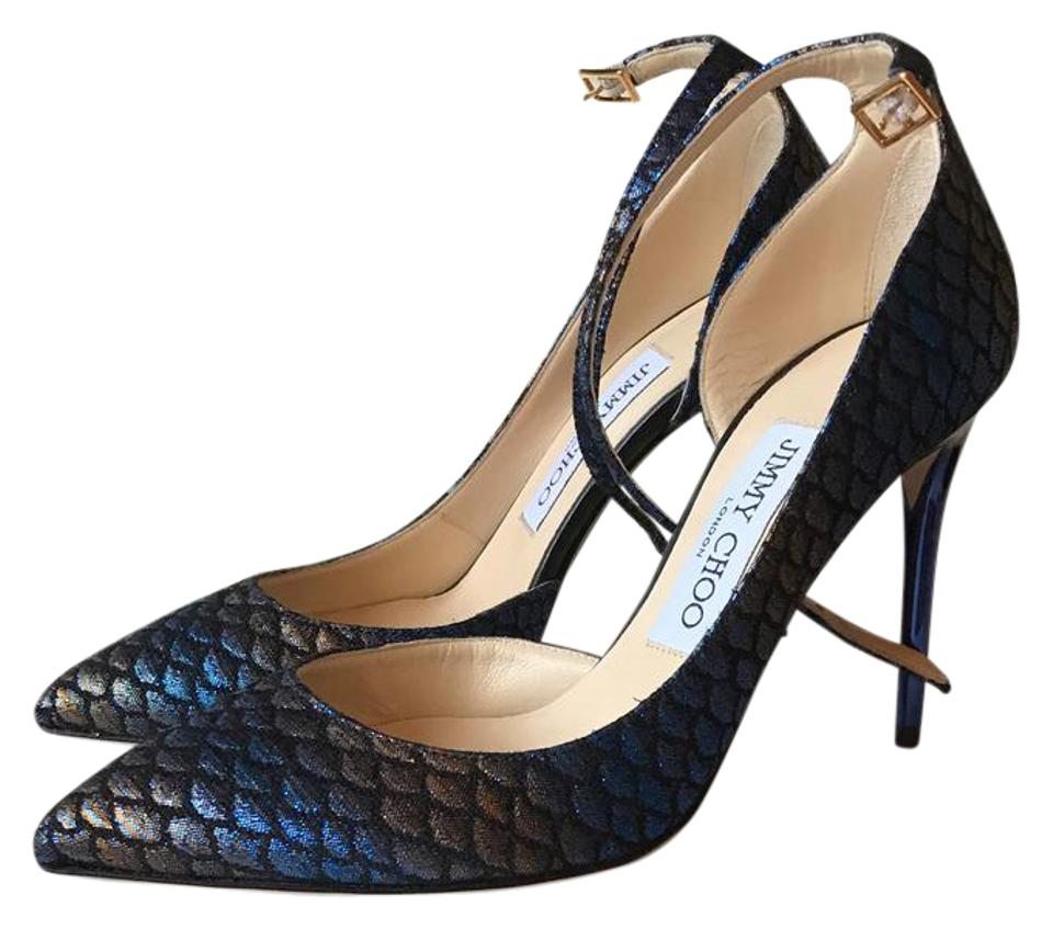 be060e1169 Jimmy Choo Blue Lucy In Pumps Size US 5 Regular (M, B) - Tradesy